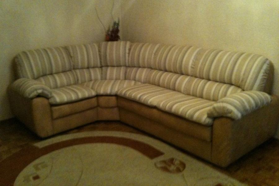 Перетяжка углового дивана №25